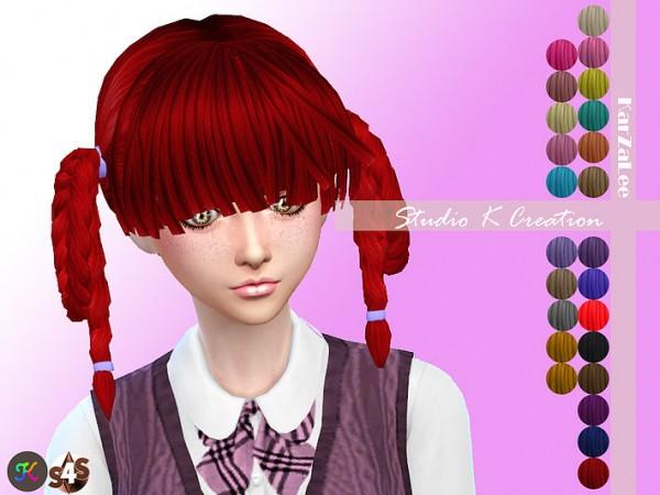 Studio K Creation: Animate hair   34 AIKA for Sims 4