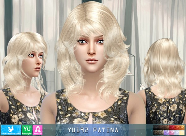 NewSea: YU192 Patina hair for Sims 4