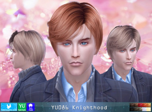 NewSea: YU086 Knightwood hair for Sims 4