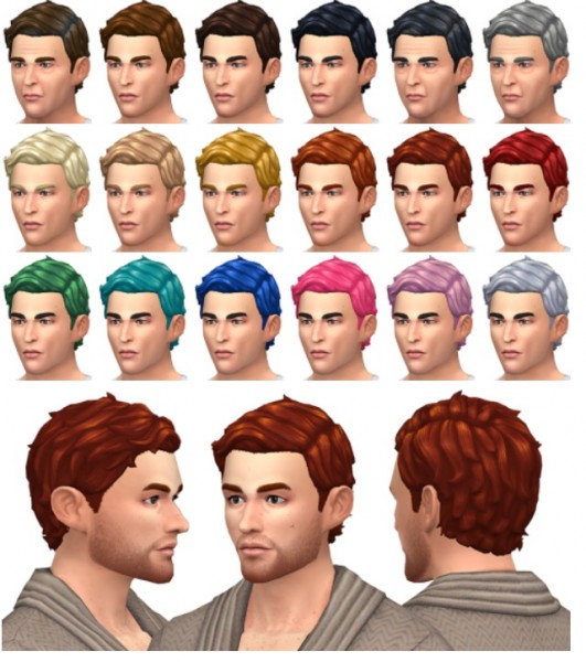 Simsontherope: Sauvage hairstyle for him for Sims 4