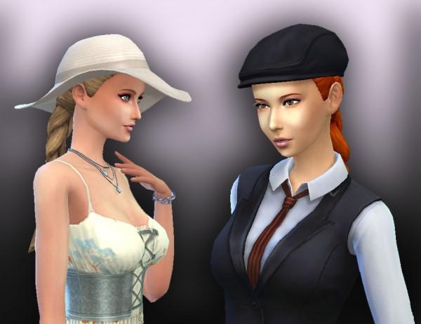 Mystufforigin: Medieval braids for Sims 4
