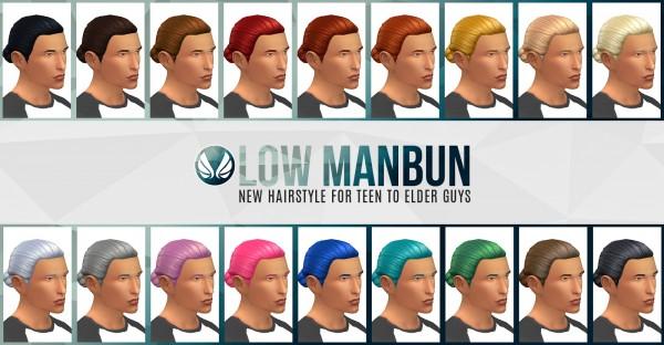 Simsational designs: Low Bun hair for Sims 4
