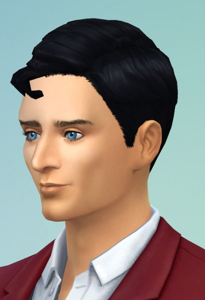 Birksches sims blog: Superman's Hairstyle for Sims 4