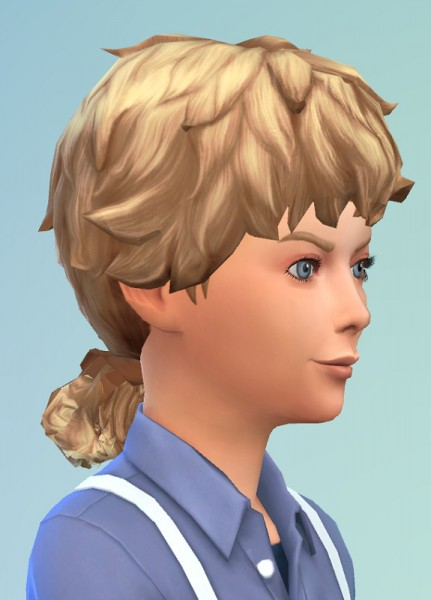 Birksches sims blog: Curly Ponytail for Sims 4