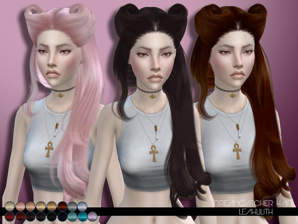 The Sims Resource: Dreamcatcher Hair by Leah Lillith for Sims 4