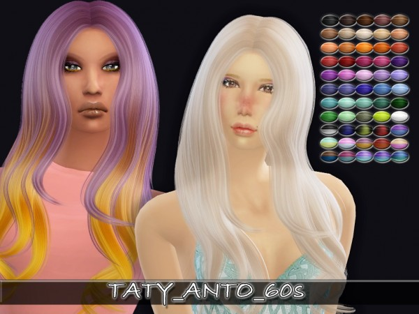 Simsworkshop: Alesso` 60s hair retextured by Taty for Sims 4