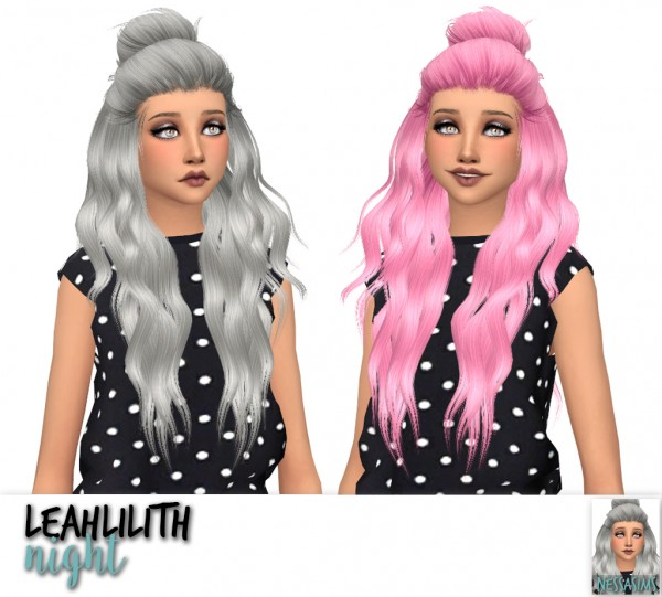 Nessa sims: Leahlilith`s Blossom, Night and Parallel hairs retextured for Sims 4