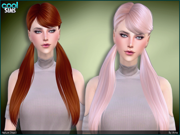 The Sims Resource: Anto`  Helium Hair for Sims 4