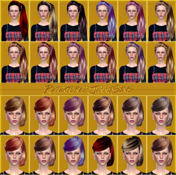 Jenni Sims: Butterfly`s 164,130 hairs retextures for Sims 4