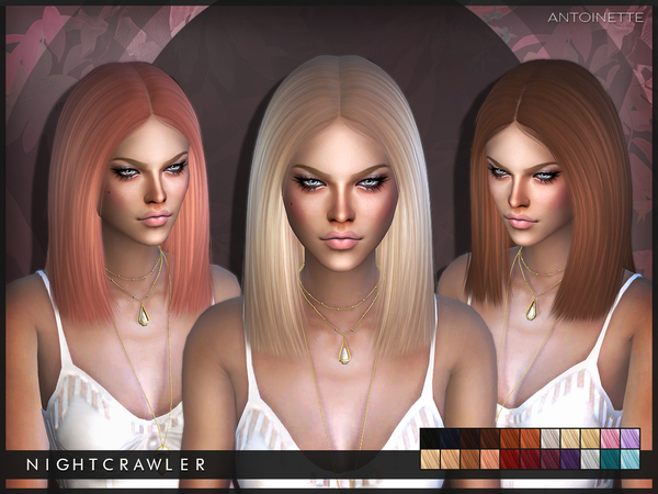 The Sims Resource: Antoinette hair by Nightcrawler for Sims 4