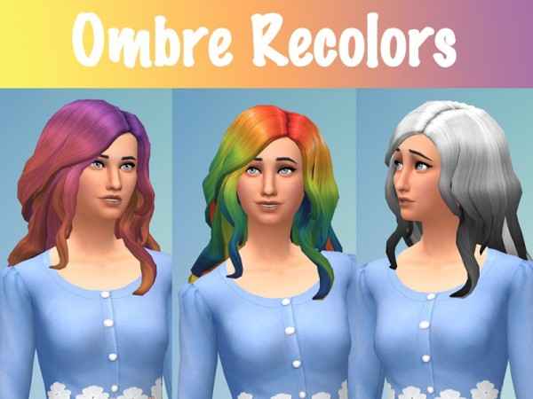 The Sims Resource: Curly Ombre Recolors by Eenhoorntje for Sims 4