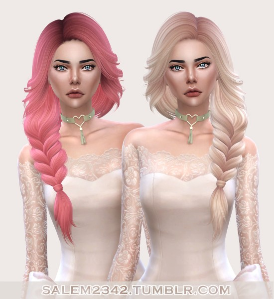 Salem2342: Nightcrawler`s Pearl hair retextured for Sims 4