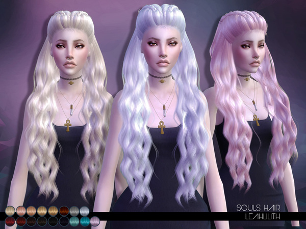 The Sims Resource: Souls Hair by LeahLillith for Sims 4