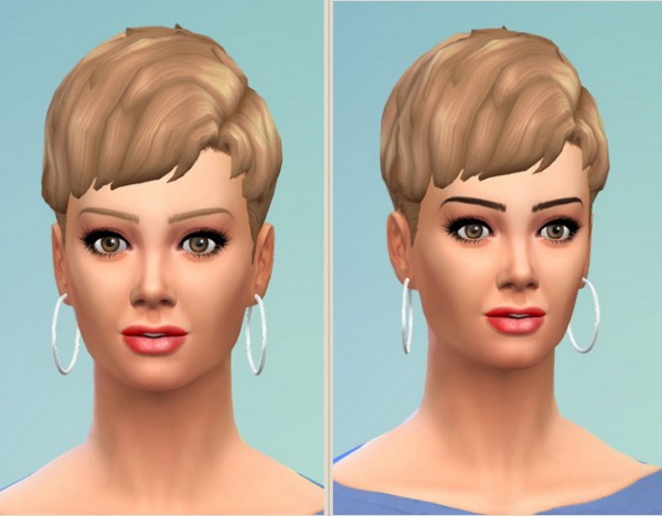 Birksches sims blog: Teased Short Hair for her for Sims 4
