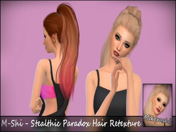 The Sims Resource: Stealthic`s Paradox Hair Retextured for Sims 4