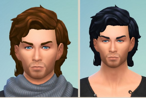 Birksches sims blog: Windy Hair for him for Sims 4