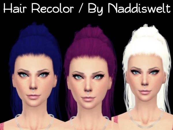 The Sims Resource: Stealthic`s Paradox hair recolored by Naddiswelt for Sims 4