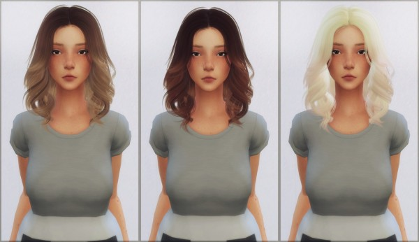 Ellie Simple: Anto`ss Mollie hair retextured for Sims 4