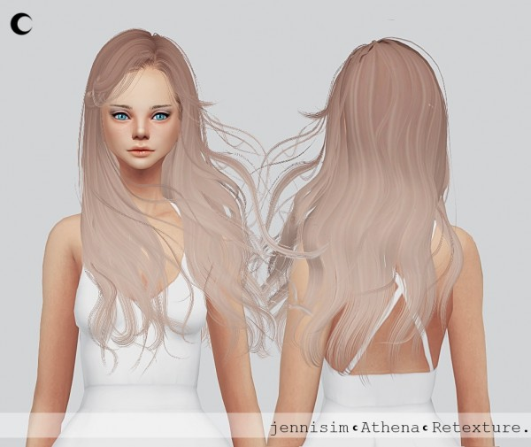 Kalewa a: Newsea`s Athena hair retextured for Sims 4