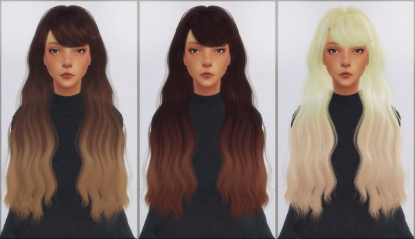 Ellie Simple: LeahLilith`s Intention hair retextured for Sims 4
