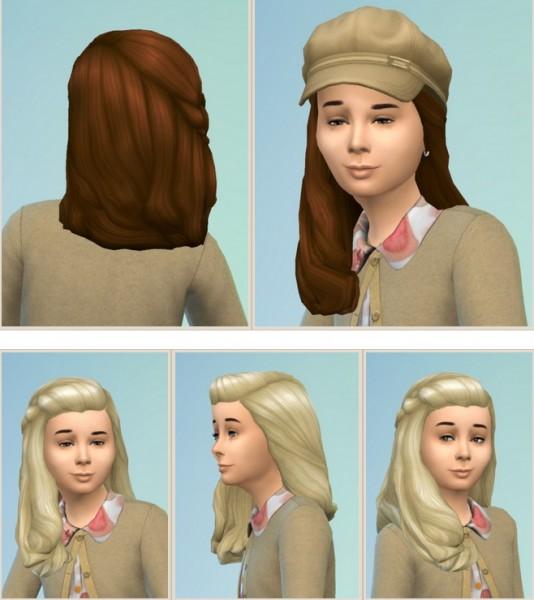 Birksches sims blog: Girly Romantic Garden Hair for Sims 4