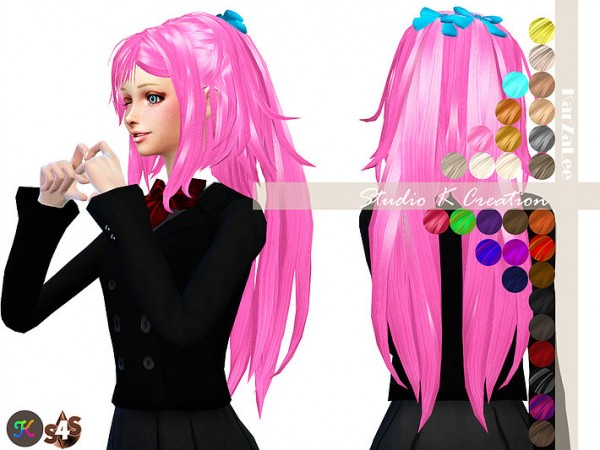 Studio K Creation: Reika 31 animate hair for Sims 4