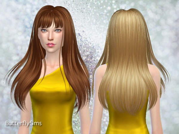 Butterflysims: Hair 189 for Sims 4