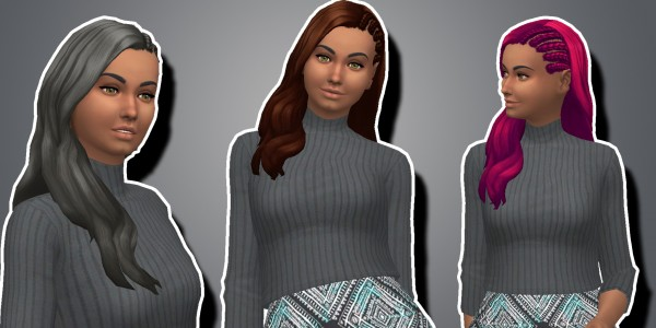 Simsworkshop: Kiara24s   Claire Hair V2 recolored by GalacticSims4 for Sims 4