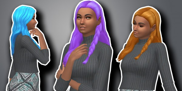 Simsworkshop: Kiara24s   Claire Hair V3 recolored by GalacticSims4 for Sims 4