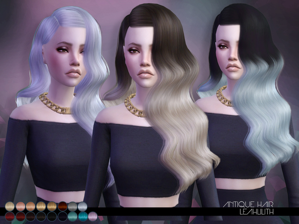 The Sims Resource: LeahLillith`s Antique Hair for Sims 4