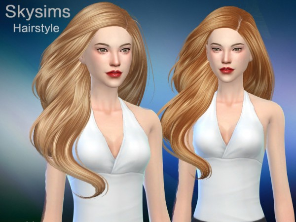 The Sims Resource: Hair 285 Grace by Skysims for Sims 4