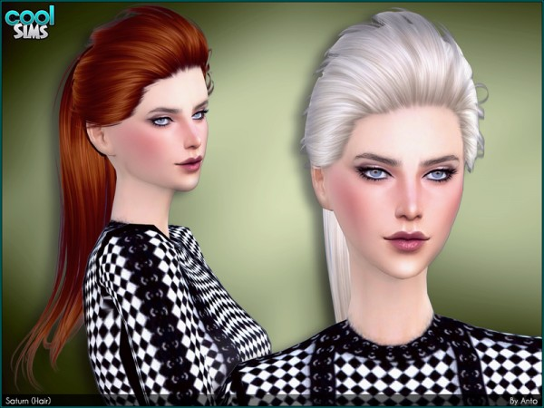 The Sims Resource: Saturn hair by Anto for Sims 4