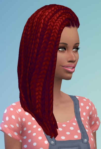 Birksches sims blog: Shaved Braids for both for Sims 4