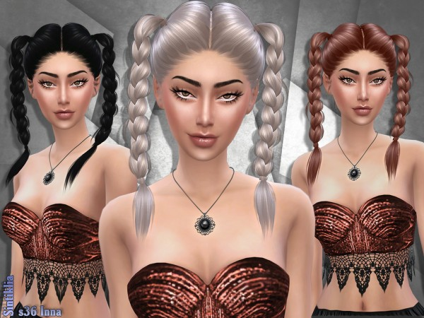 Sintiklia Sims: Hair 36 Inna for Sims 4