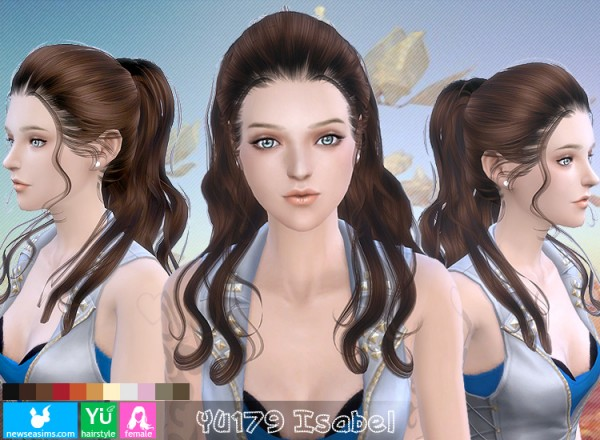NewSea: YU 179 hair for Sims 4
