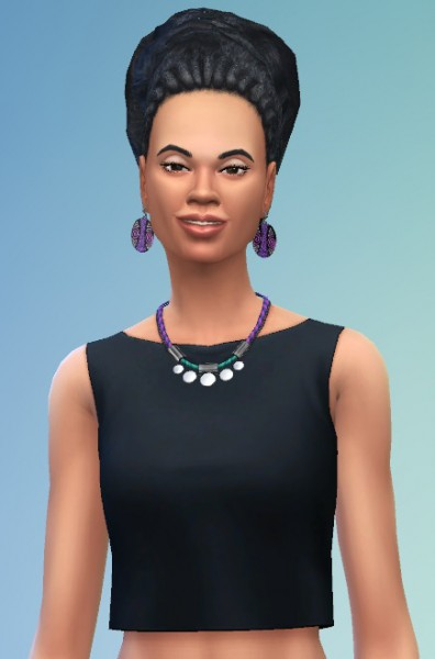 Birksches sims blog: Rasta Bun Ponytail hair for Sims 4