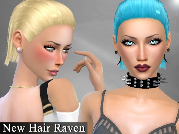 The Sims Resource: Raven hair by Genius666 for Sims 4