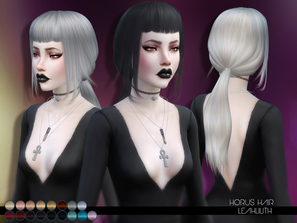 The Sims Resource: Horus Hair by LeahLillith for Sims 4