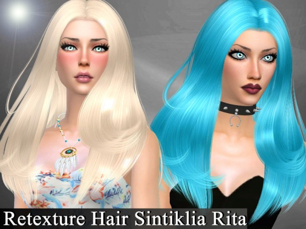 The Sims Resource: Retexture Hair Sintiklia Rita by Genius666 for Sims 4