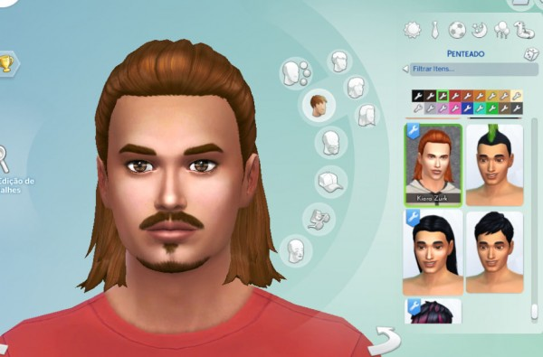 Mystufforigin: Modest Bun for him for Sims 4