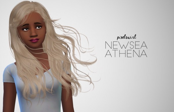 Swirl Goodies: Newsea`s and Stealthic hairs retextured for Sims 4