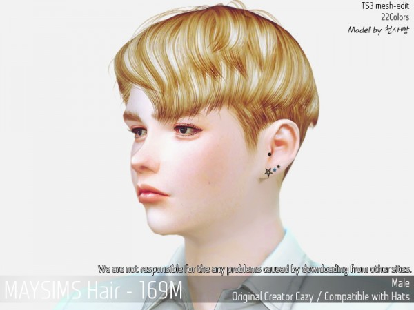 MAY Sims: May 169M hair retextured for Sims 4