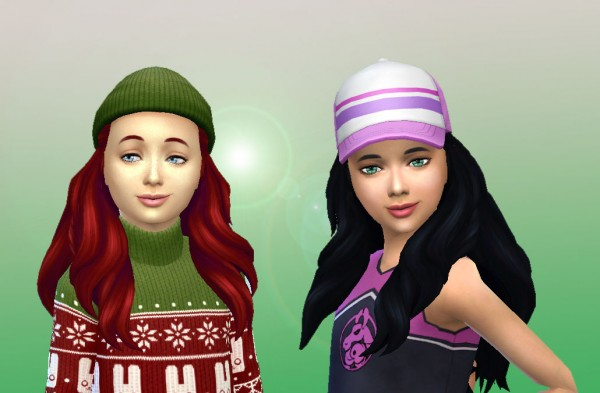 Mystufforigin: Creative Braids for girls for Sims 4