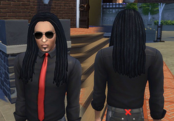 Mystufforigin: Dread style hair for Sims 4
