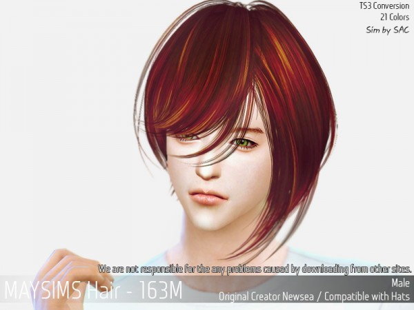 MAY Sims: May Hair 163 M for Sims 4