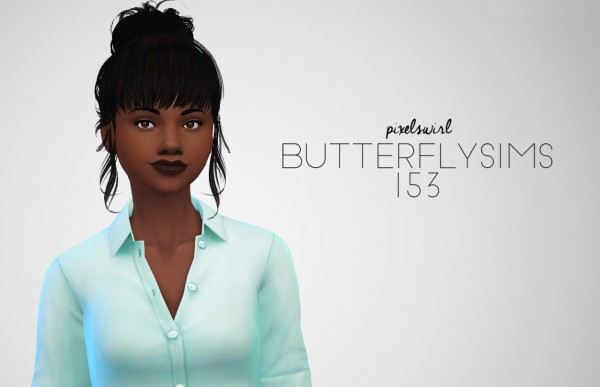Swirl Goodies: Butterfly`s and Newsea`s hairs retextured for Sims 4