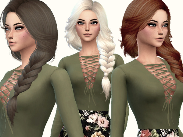 The Sims Resource: Nightcrawler`s Pearl hair retextured by Lovelysimmer100 for Sims 4
