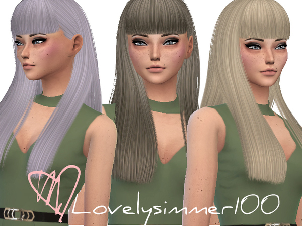 The Sims Resource: Nightcrawler`s Poison hair retextured by Lovelysimmer100 for Sims 4