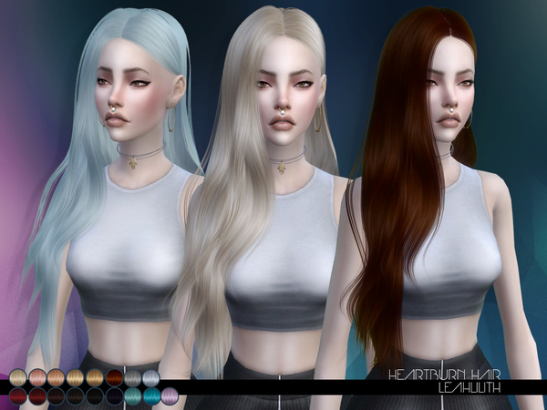 The Sims Resource: Heartburn Hair by LeahLillith for Sims 4