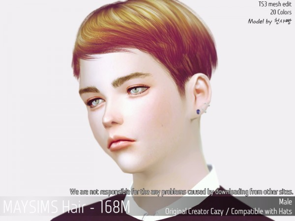 MAY Sims: May 168M hair retextured for Sims 4